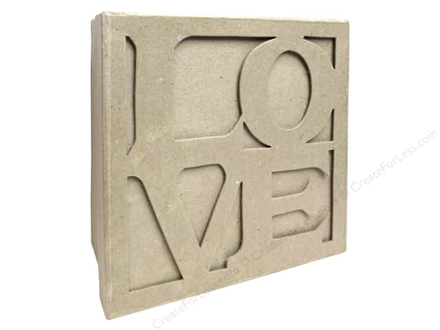 PA Paper Mache Love Box 8 in.