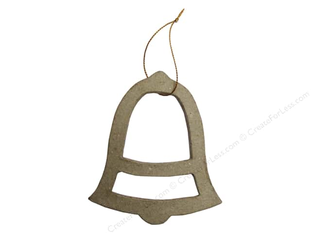 PA Paper Mache Ornament Open Bell 4 in.