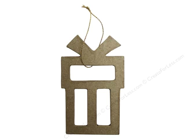 PA Paper Mache Ornament Open Gift Box 4 in.