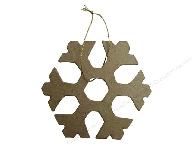 PA Paper Mache Ornament Open Snowflake 4 in.