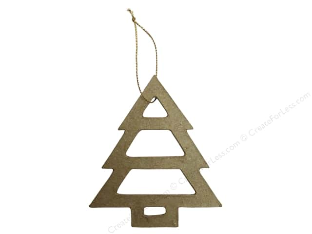 PA Paper Mache Ornament Open Tree 4 1/4 in.