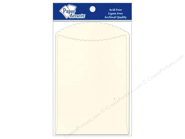 Paper Accents Pocket 3 1/2 x 5 in. Cream 10 pc.