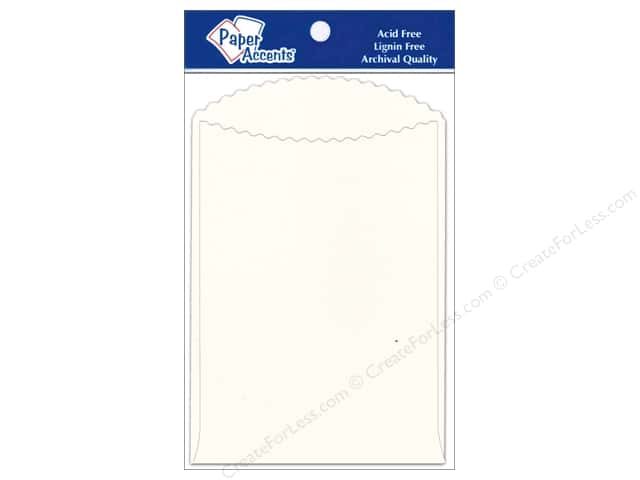 Paper Accents Pocket 3 1/2 x 5 in. Eggshell 10 pc.