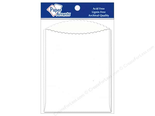 Paper Accents Pocket 4 1/4 x 5 1/2 in. White 10 pc.