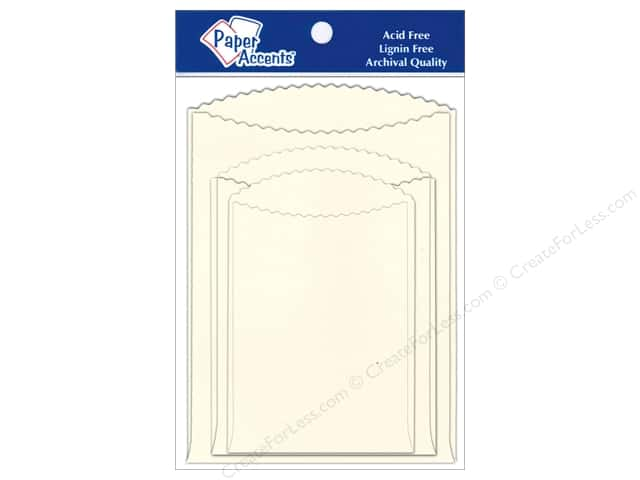 Paper Accents Pocket Assorted Sizes Cream 8 pc.