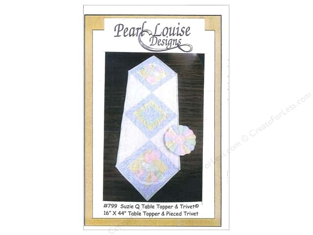 Pearl Louise Designs Suzie Q TableTopper & Trivet Pattern