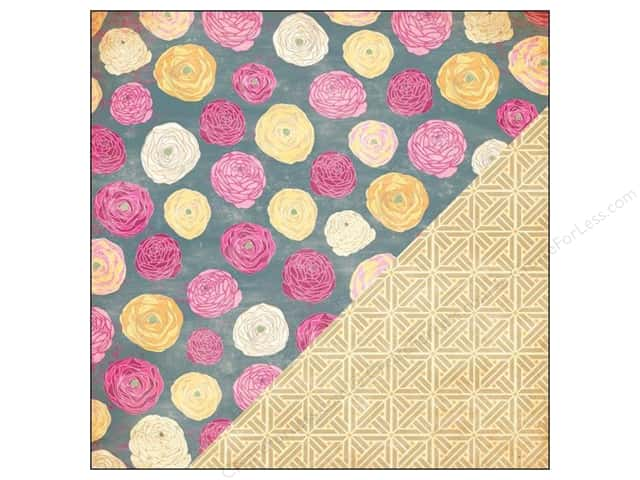 Bazzill 12 x 12 in. Paper Miss Teagen Sue Ranuculus/Basket Weave 25 pc.
