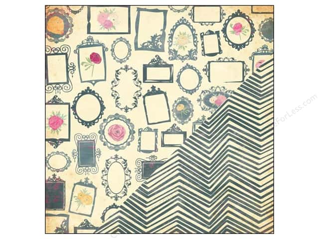 Bazzill 12 x 12 in. Paper Miss Teagen Sue Gallery/Home Spun Chevron 25 pc.