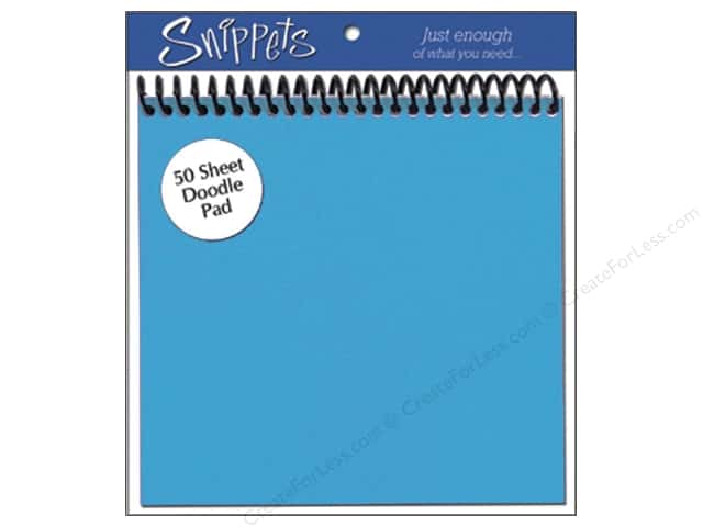 Doodle Pad by Paper Accents 6 x 6 in. Blue