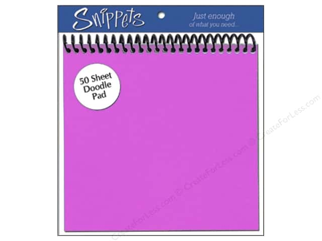 Doodle Pad by Paper Accents 6 x 6 in. Purple