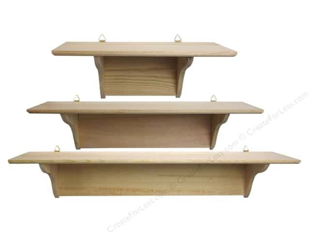Sierra Pacific Crafts Wood Shelf Curved Brace Set of 3