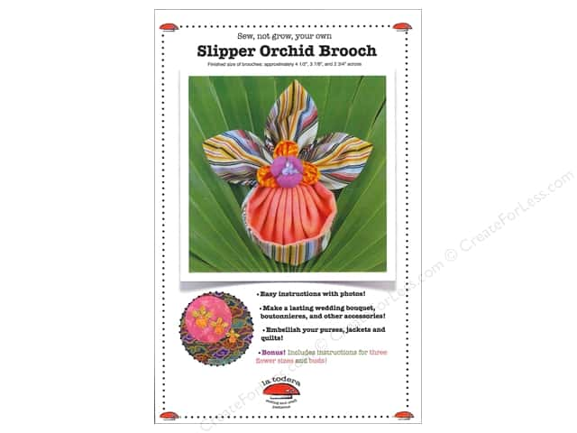 La Todera Slipper Orchid Brooch Pattern