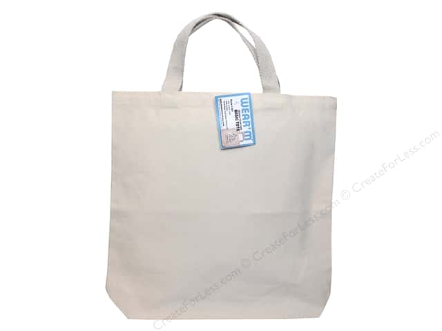 "Mark Richards Blank Canvas Tote 13.5""x 13.5""x 2"" Natural"