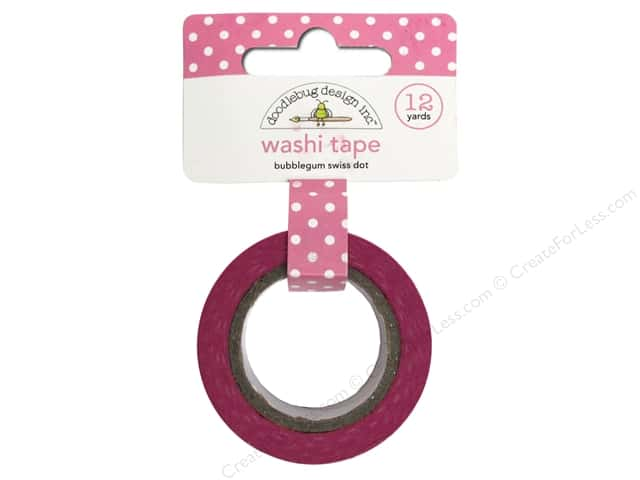 Doodlebug Washi Tape 5/8 in. x 12 yd. Bubblegum