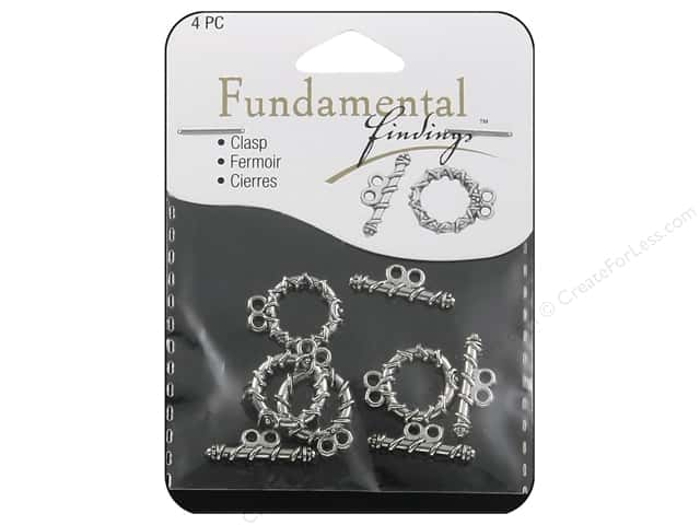 Sweet Beads Fundamental Finding Toggle Clasp 5/8 in. Strand Silver 4 pc.