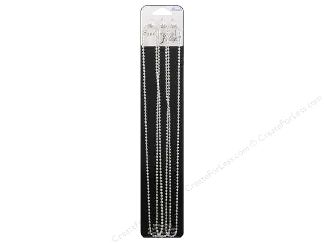 Sweet Beads Fundamental Finding Ball Chain 2.4 mm 3 pc. Silver 18 in.