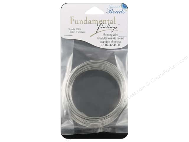 Sweet Beads Fundamental Finding Memory Wire 1 mm Standard 1.5 oz