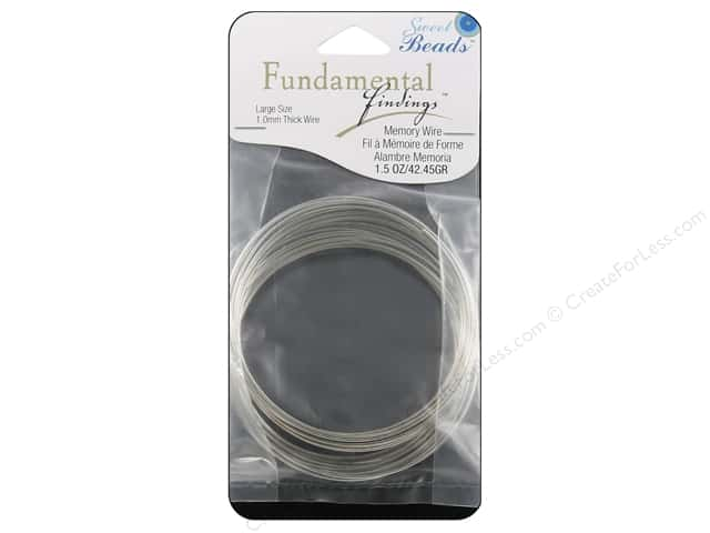 Sweet Beads Fundamental Finding Memory Wire 1 mm Large 1.5 oz