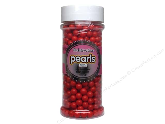 SweetWorks Celebration Pearls 5oz Red