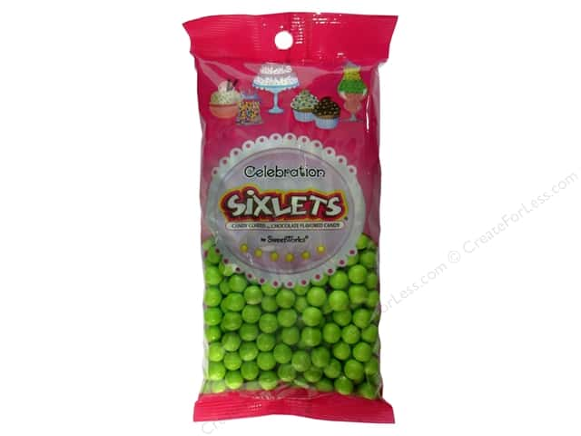SweetWorks Celebration Sixlets 14 oz. Lime Green