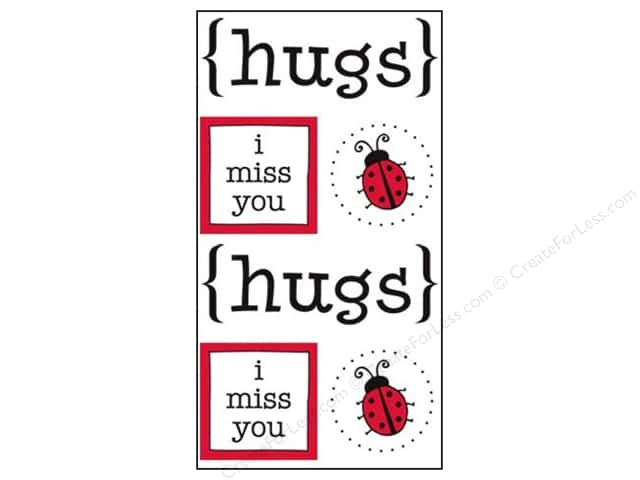 SRM Press Sticker Quick Cards Hugs