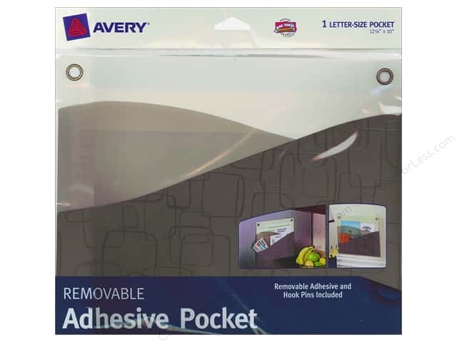 Avery Removable Wall Pocket 10 x 12 1/4 in. Taupe