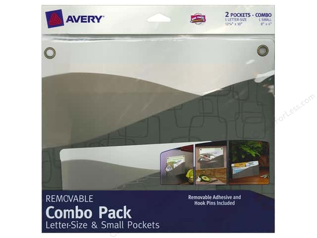 Avery Removable Wall Pocket Combo Pack 2 pc. Contemporary