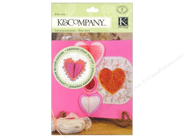 K&Company Embellishments Pop Ups Honeycomb Cupid