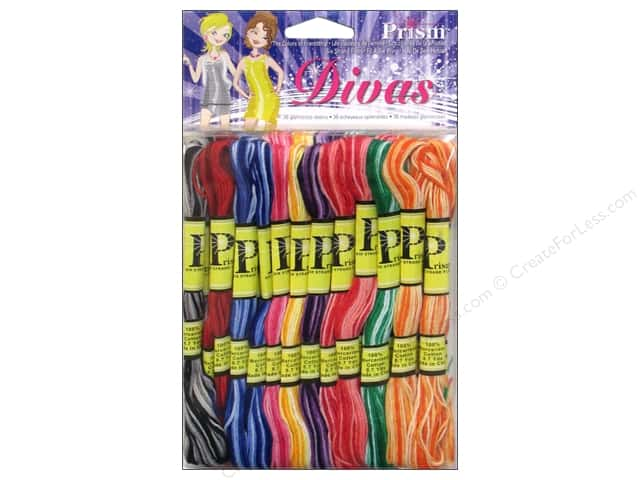 Six Strand Embroidery Floss Pack Divas 36pc by Prism