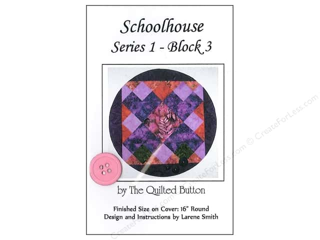 Quilted Button Schoolhouse Series 1 Block 3 Pattern