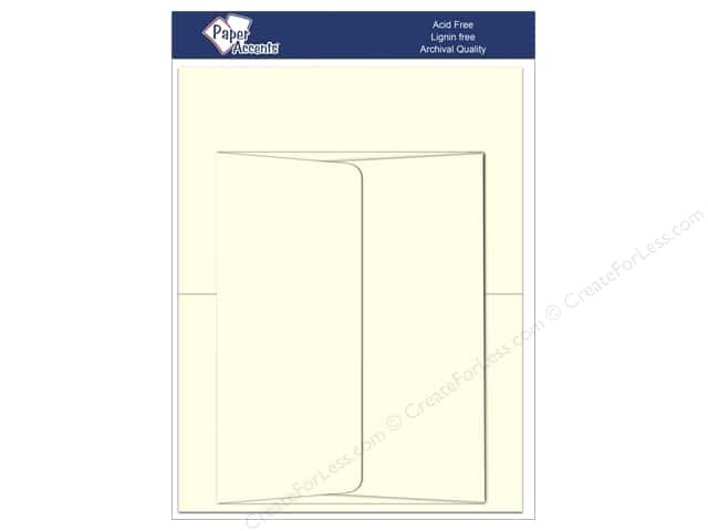 4 1/4 x 5 1/2 in. Blank Card & Envelopes by Paper Accents 8 pc. Eggshell