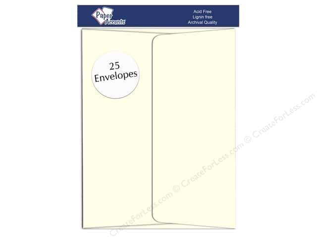 5 x 7 in. Envelopes by Paper Accents 25 pc. #63 Eggshell