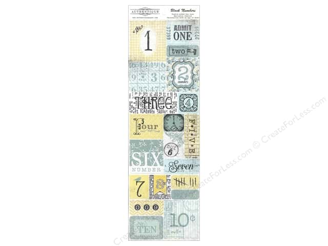 Authentique Die Cuts Renew Block Numbers (12 sets)