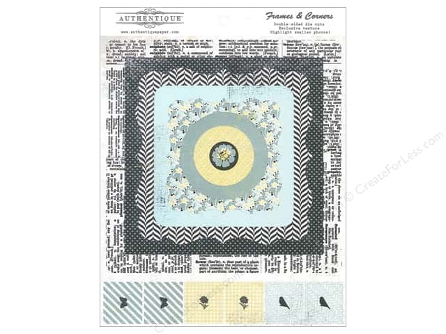Authentique Die Cuts Renew Frames & Corners (12 sets)