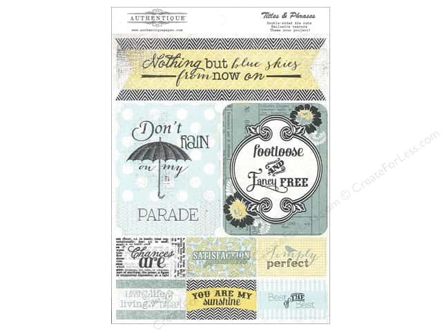 Authentique Die Cuts Renew Titles & Phrases (12 sets)