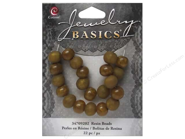 Cousin Resin Beads 5/16 in. Round Gold 22 pc.
