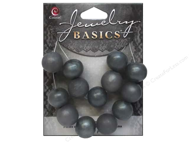 Cousin Resin Beads 9/16 in. Round Teal 13 pc.