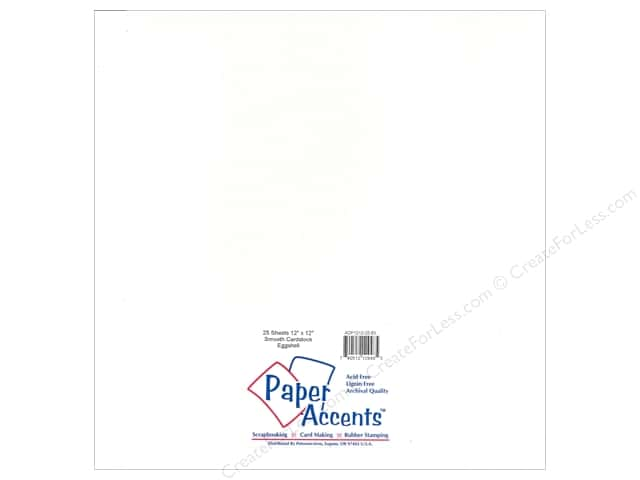 Cardstock 12 x 12 in. #63 Smooth Eggshell by Paper Accents (25 sheets)