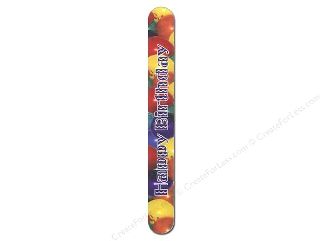 FotoFiles Nail File 7 in. Happy Birthday II