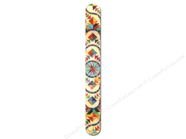 FotoFiles Nail File 7 in. Stained Glass Quilt