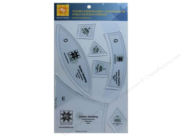 EZ Quilting Golden Wedding Ring Acrylic Template Set by Darlene Zimmerman