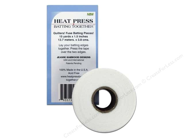 "Heat Press Batting Together Seam Tape 1.5""x 15yd White"