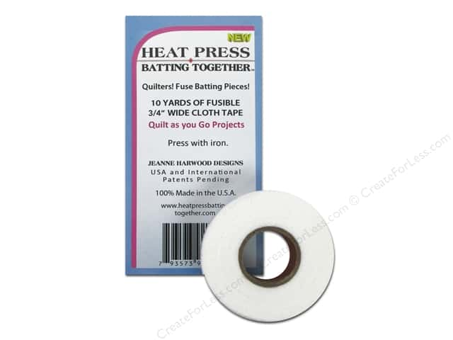 "Heat Press Batting Together Seam Tape .75""x 10yd White"