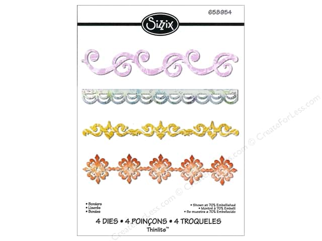 Sizzix Thinlits Die Set 4 pc. Borders