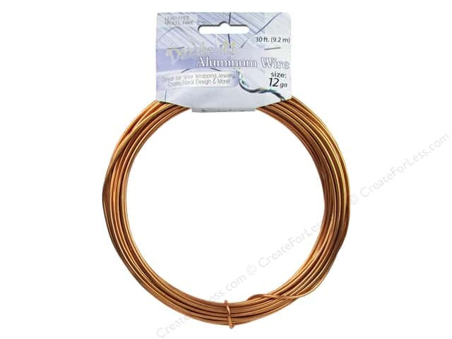 Dazzle It Aluminum Wire 12 ga. 30 ft. Round Light Copper