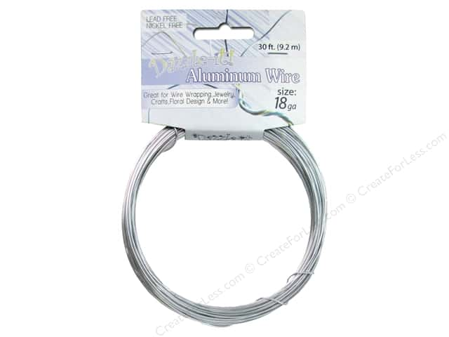 Dazzle It Aluminum Wire 18 ga. 30 ft. Round Silver
