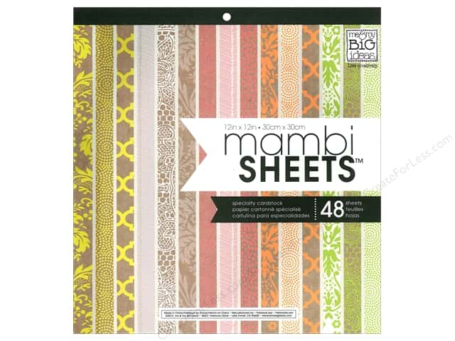 Me & My Big Ideas Sheets Cardstock Pad 12 x 12 in. Neon Craft