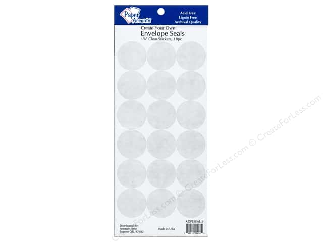 Paper Accents Envelope Seals 1 1/8 in. Clear 18 pc.