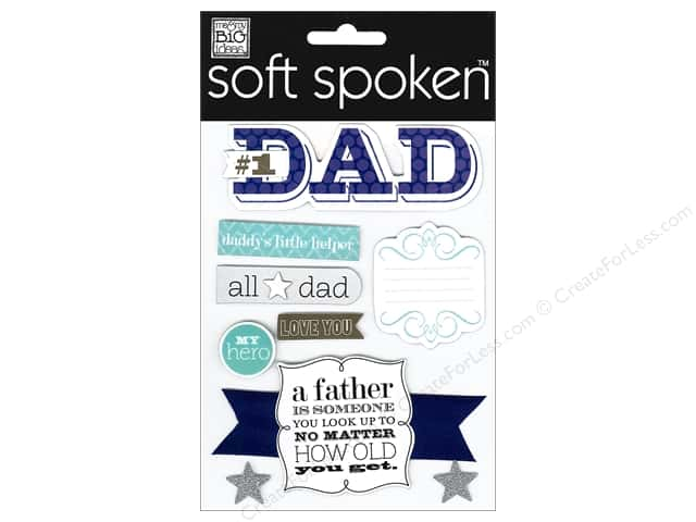 Me & My Big Ideas Soft Spoken Stickers #1 Dad