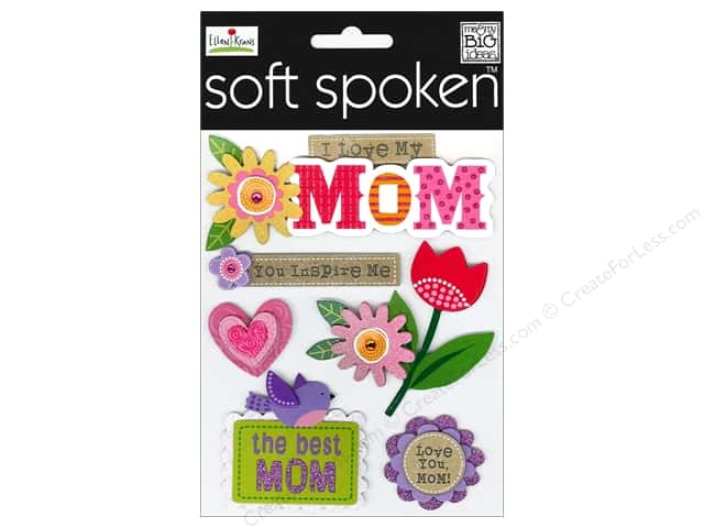 Me & My Big Ideas Soft Spoken Stickers I Love My Mom